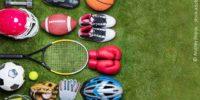 Sportequipment Auf Rasen