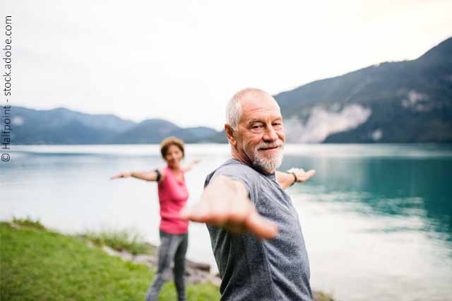 Mann Und Frau Beim Sport Im Freien